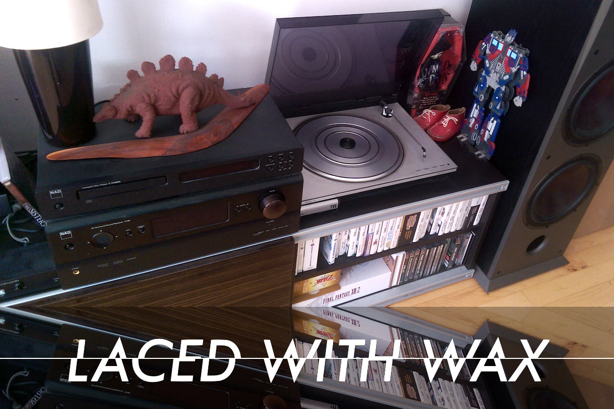 Laced With Wax Blip Blop on vinyl: The ritual, the record sleeve and regressing from CDs