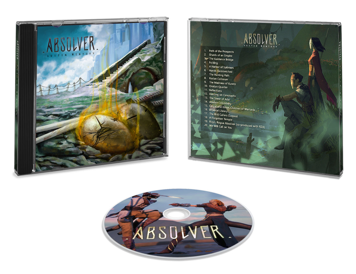 The Absolver soundtrack CD front cover was designed by the similarly multi-talented Costa Rican artist, Angela Bermúdez