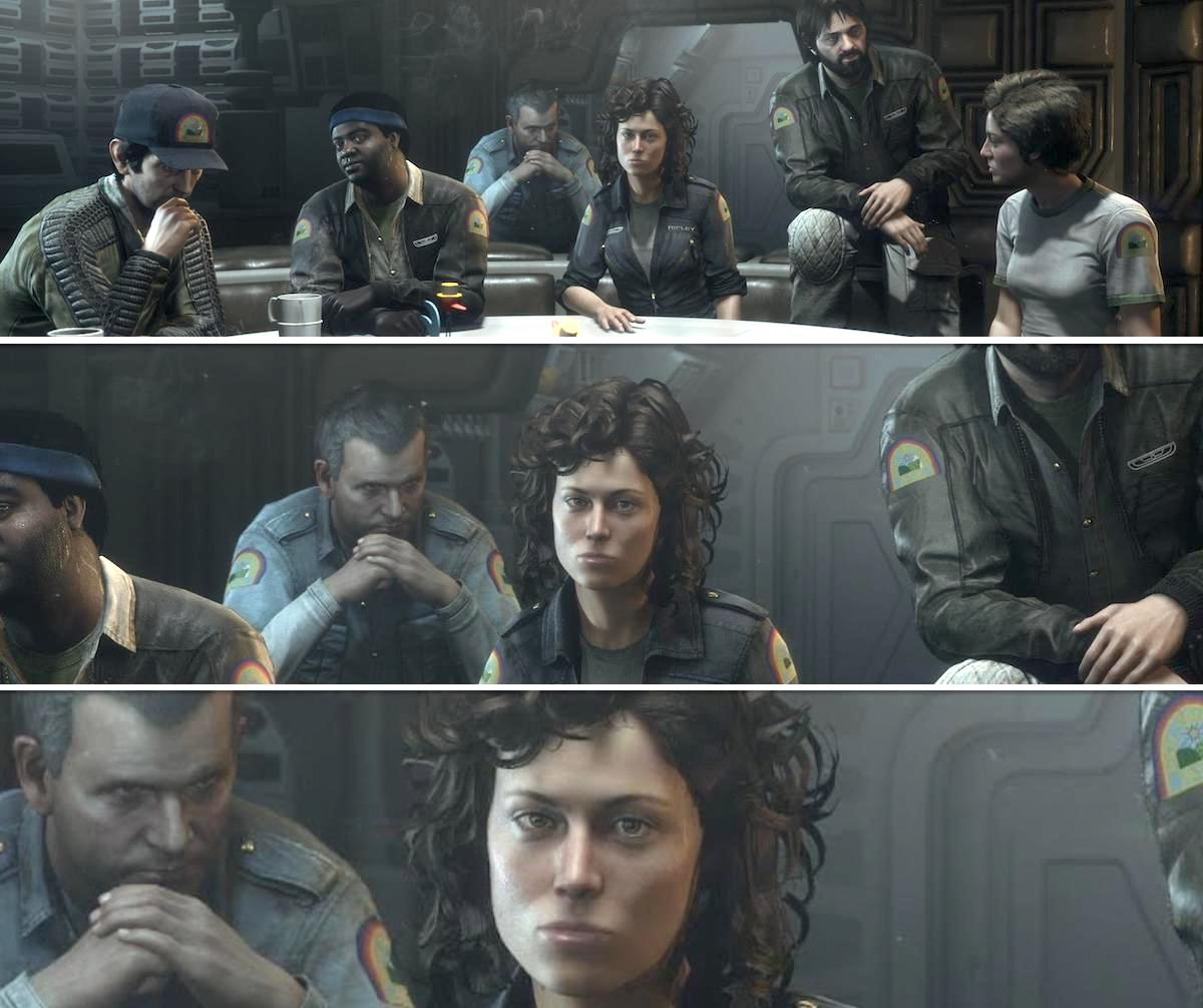 The crew from Alien: Isolation Crew Expendable