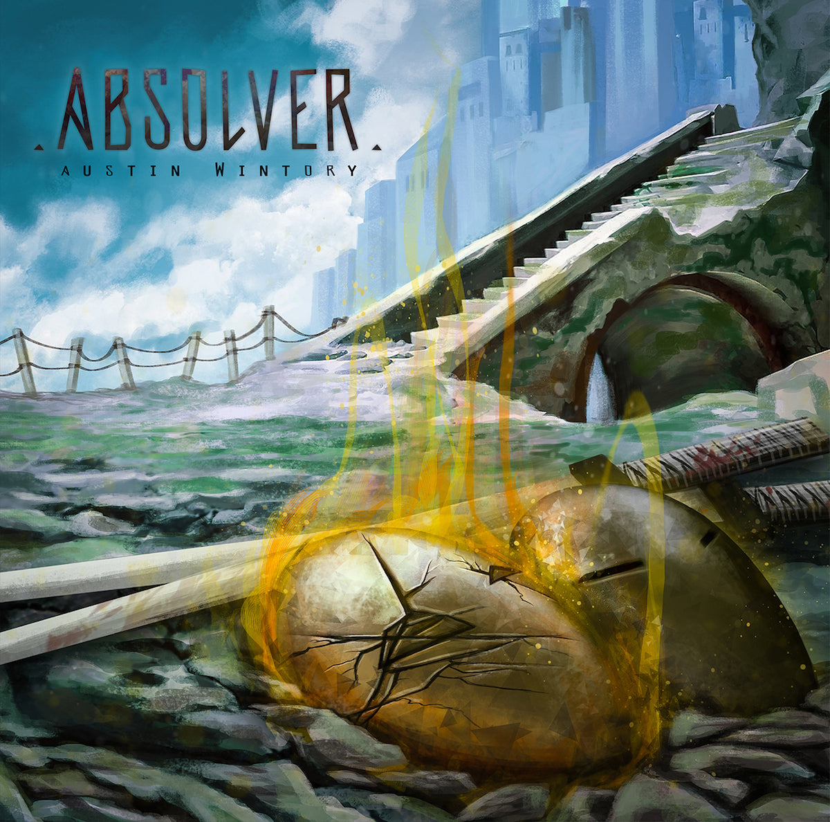 Bermúdez's painting for the Absolver soundtrack CD: