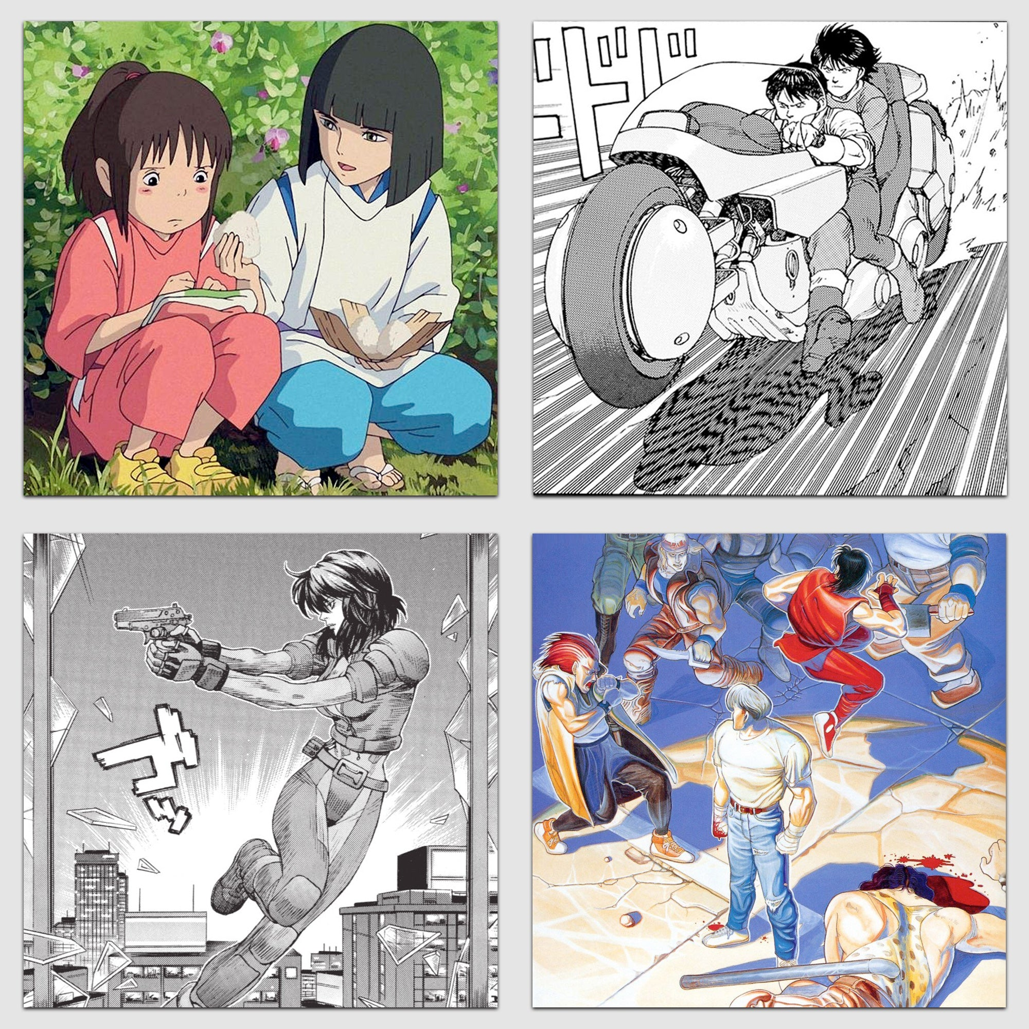 Spirited Away, Akira, Ghost in the Shell and Final Fight