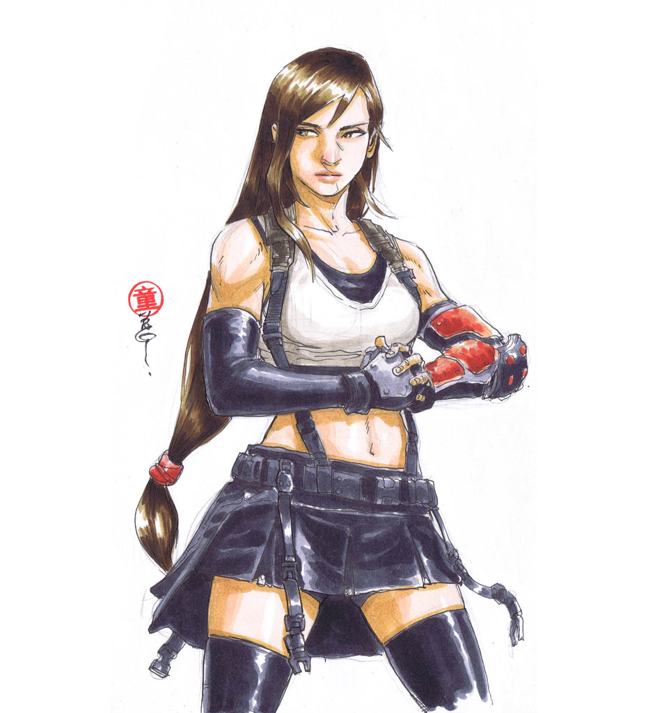 Tifa from Final Fantasy VII drawn by Andie Tong.