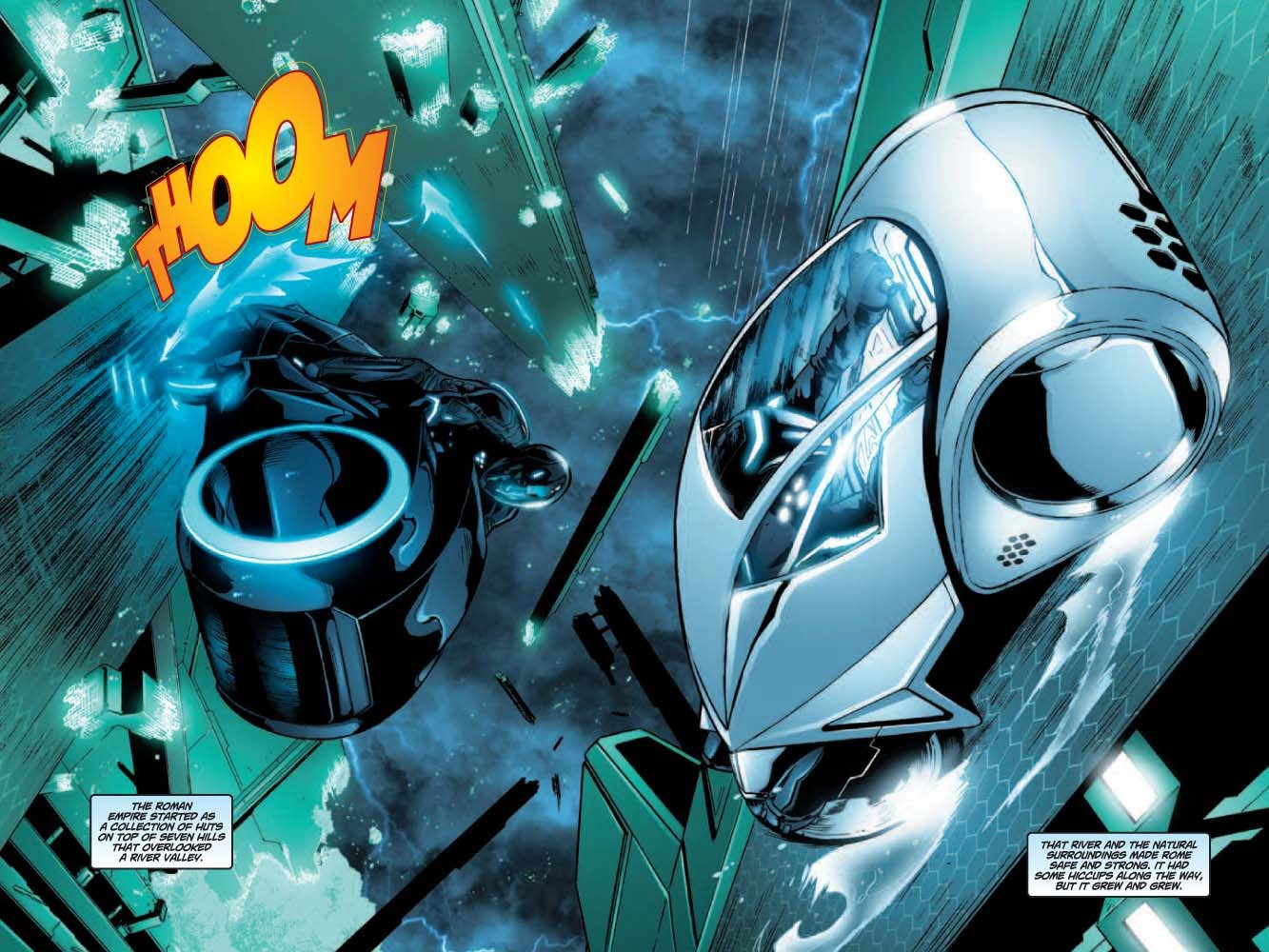 One of Tong's panels from TRON BETRAYAL.