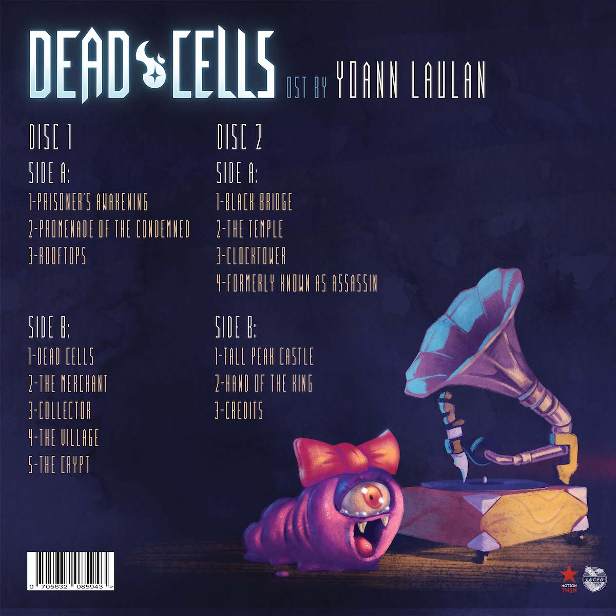 The back cover of the Dead Cells OST vinyl