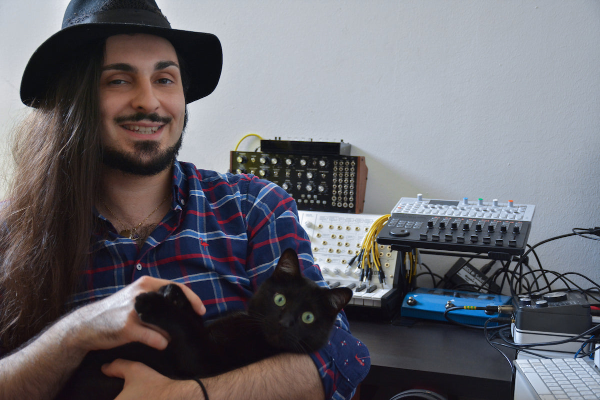 Yoann Laulan and his feline friend. Picture credit: Aurore Athomas