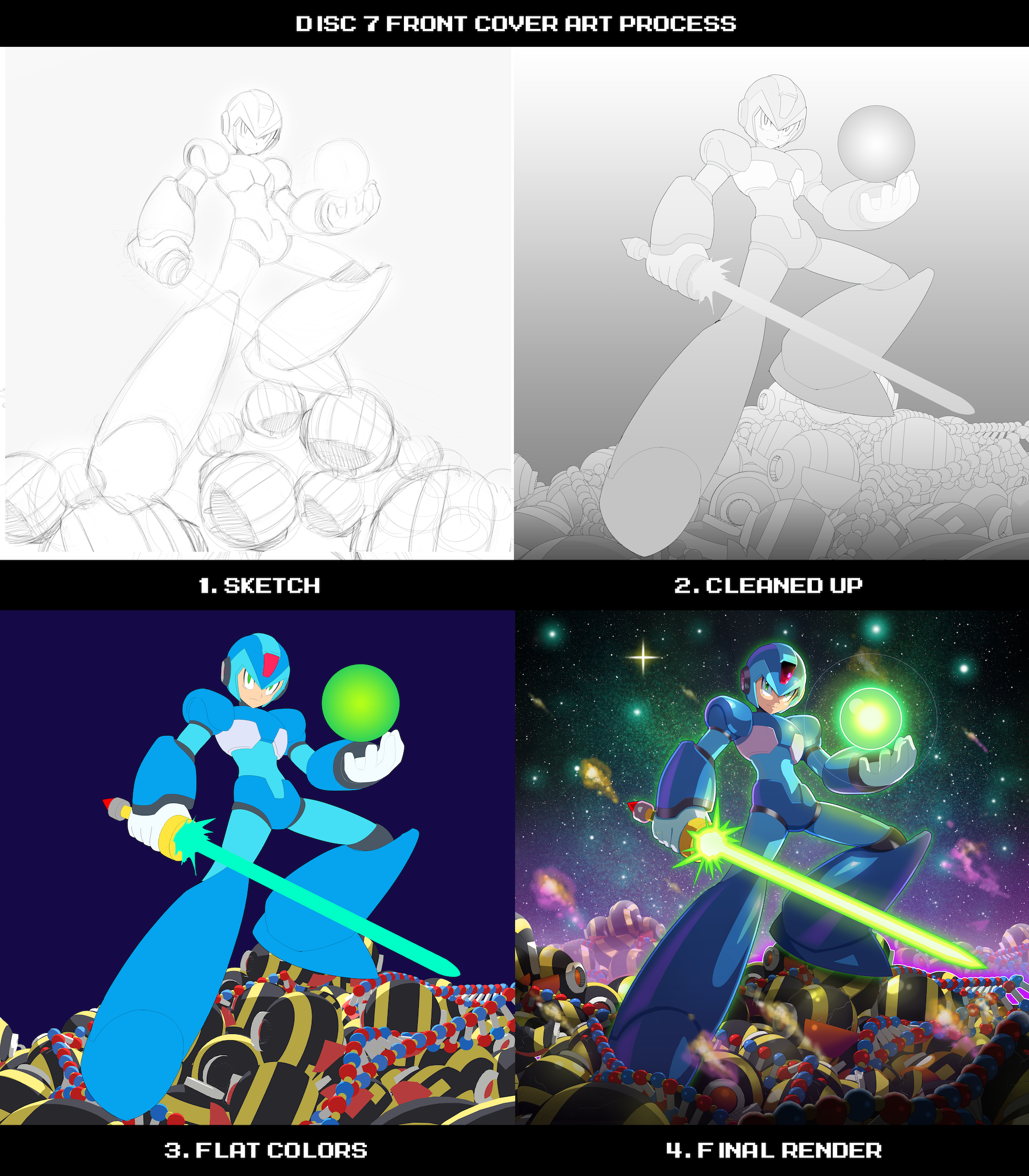 """Rank UH"" by ultimatemaverickx for the Mega Man X 1-8: The Collection vinyl box set available from Lacedrecords.com"
