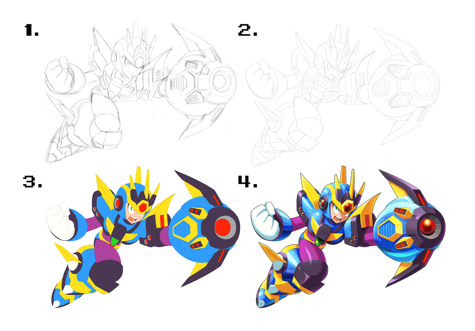 Art by ultimatemaverickx for the Mega Man X 1-8: The Collection vinyl box set available from Lacedrecords.com