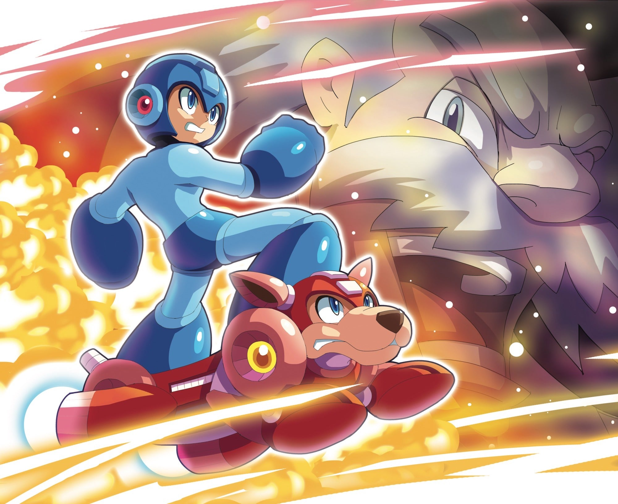 ultimatemaverickx's artwork for Mega Man 1-11: The Collection vinyl box set