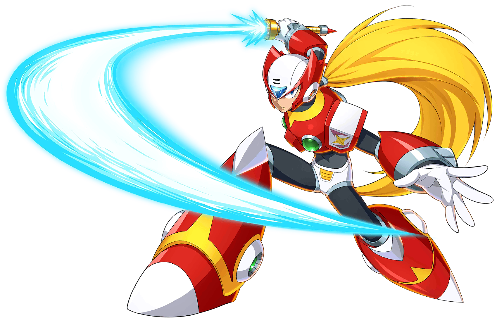 The character Zero from various titles across different Mega Man sub-series.