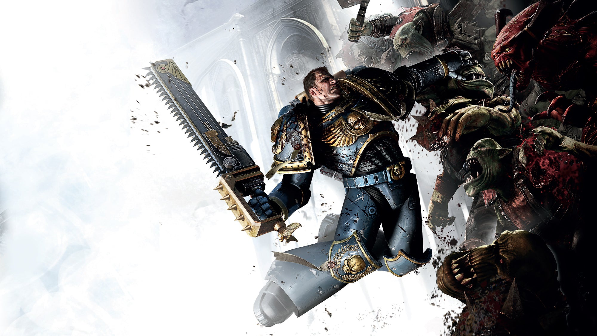 Official artwork from Warhammer 40,000: Space Marine.