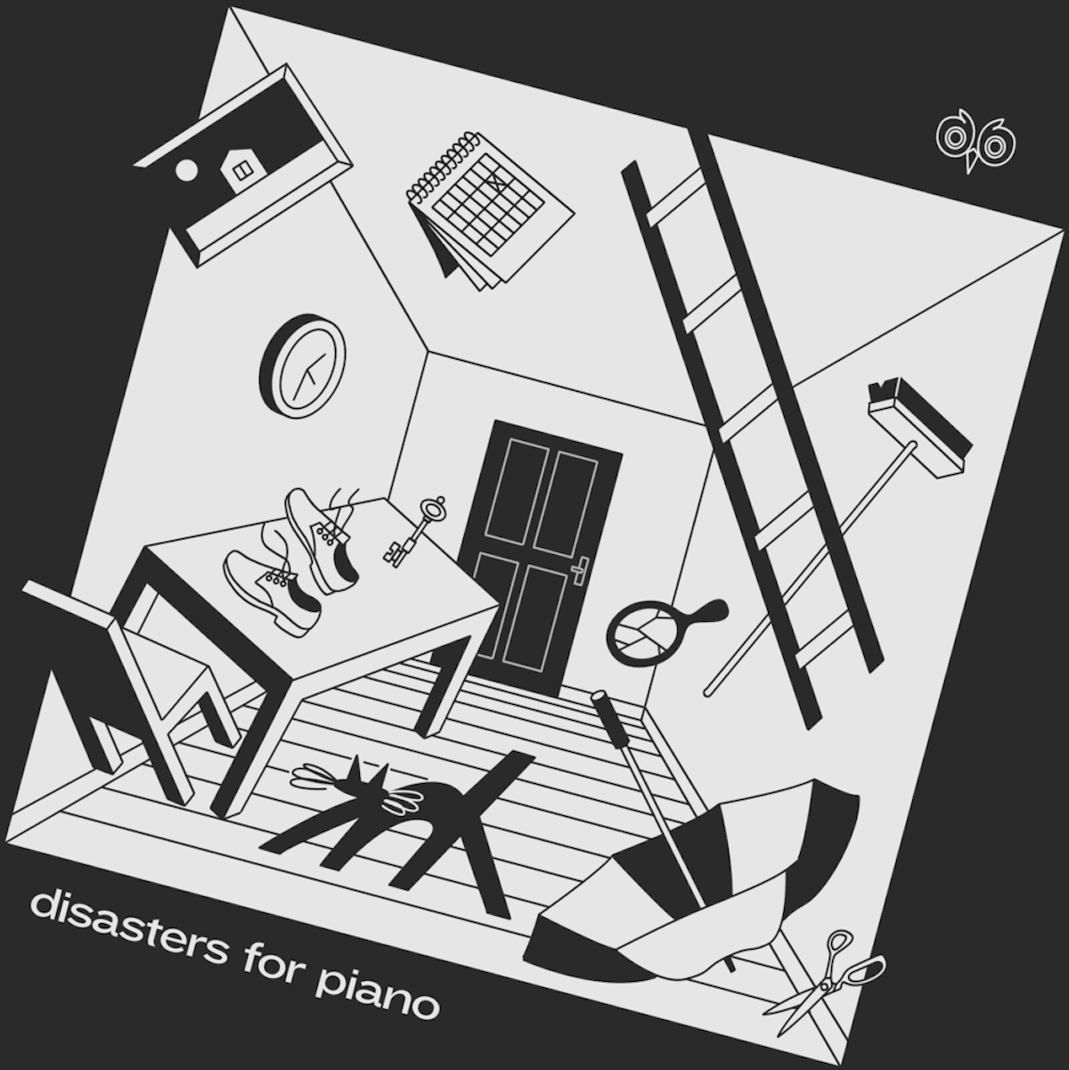 Cover artwork for Disasters for Piano by Nicolas Ménard