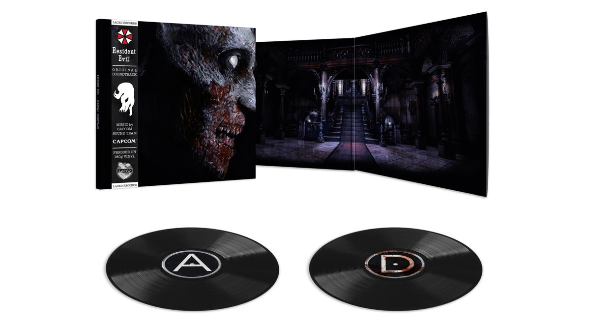 Resident Evil (2002) deluxe double black soundtrack vinyl is available to pre-order at www.lacedrecords.com