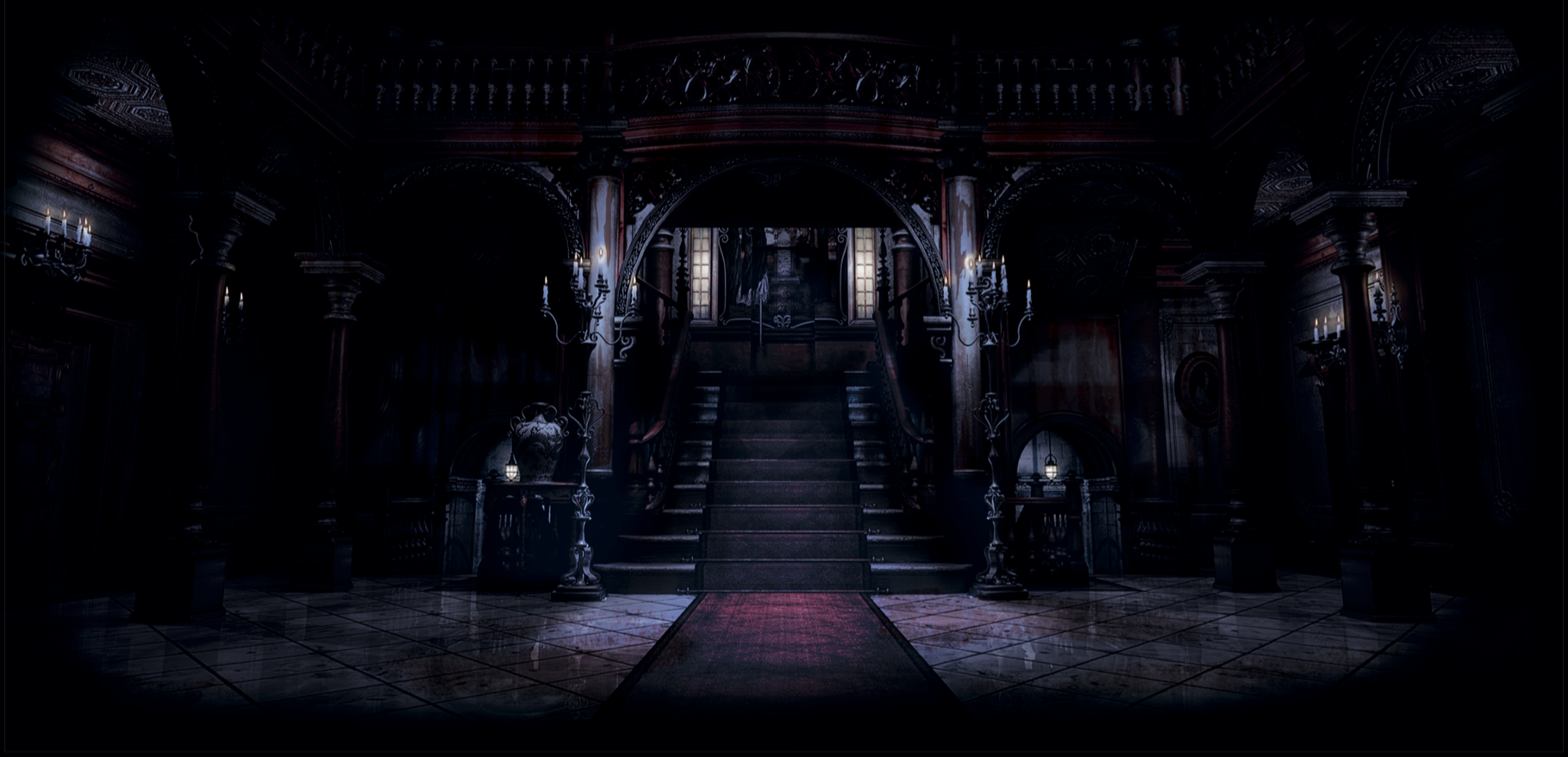 The gatefold of the Resident Evil vinyl.