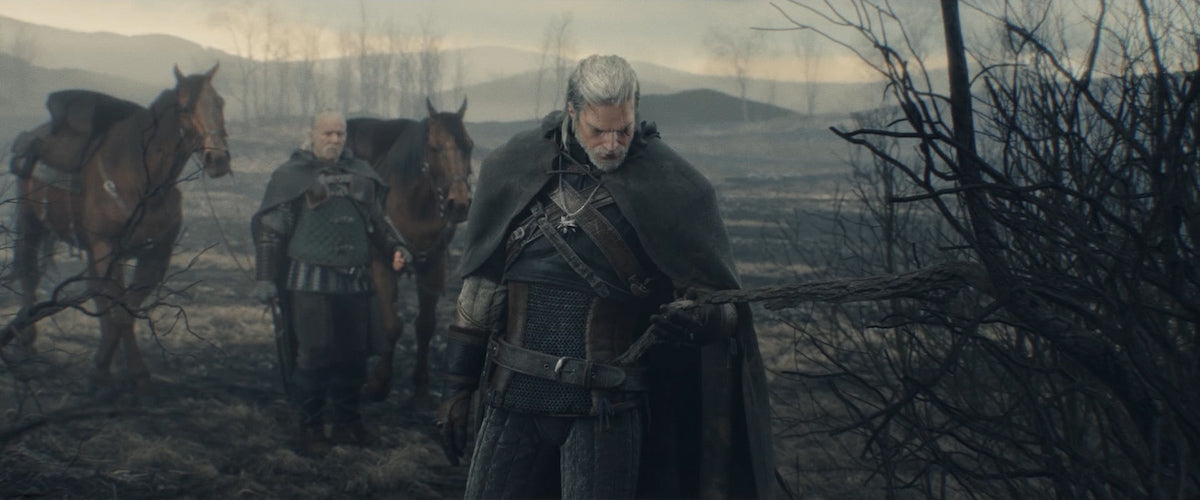A screenshot from the opening of The Witcher 3: Wild Hunt