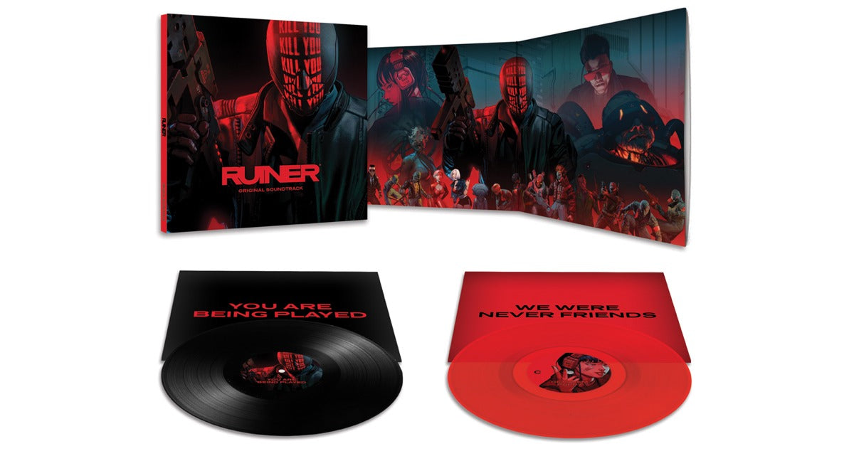 the RUINER soundtrack on 2xLP vinyl available to pre-order at LacedRecords.com