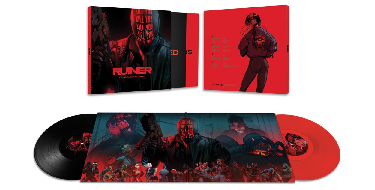 The RUINER soundtrack is available on 2xLP vinyl from LacedRecords.com