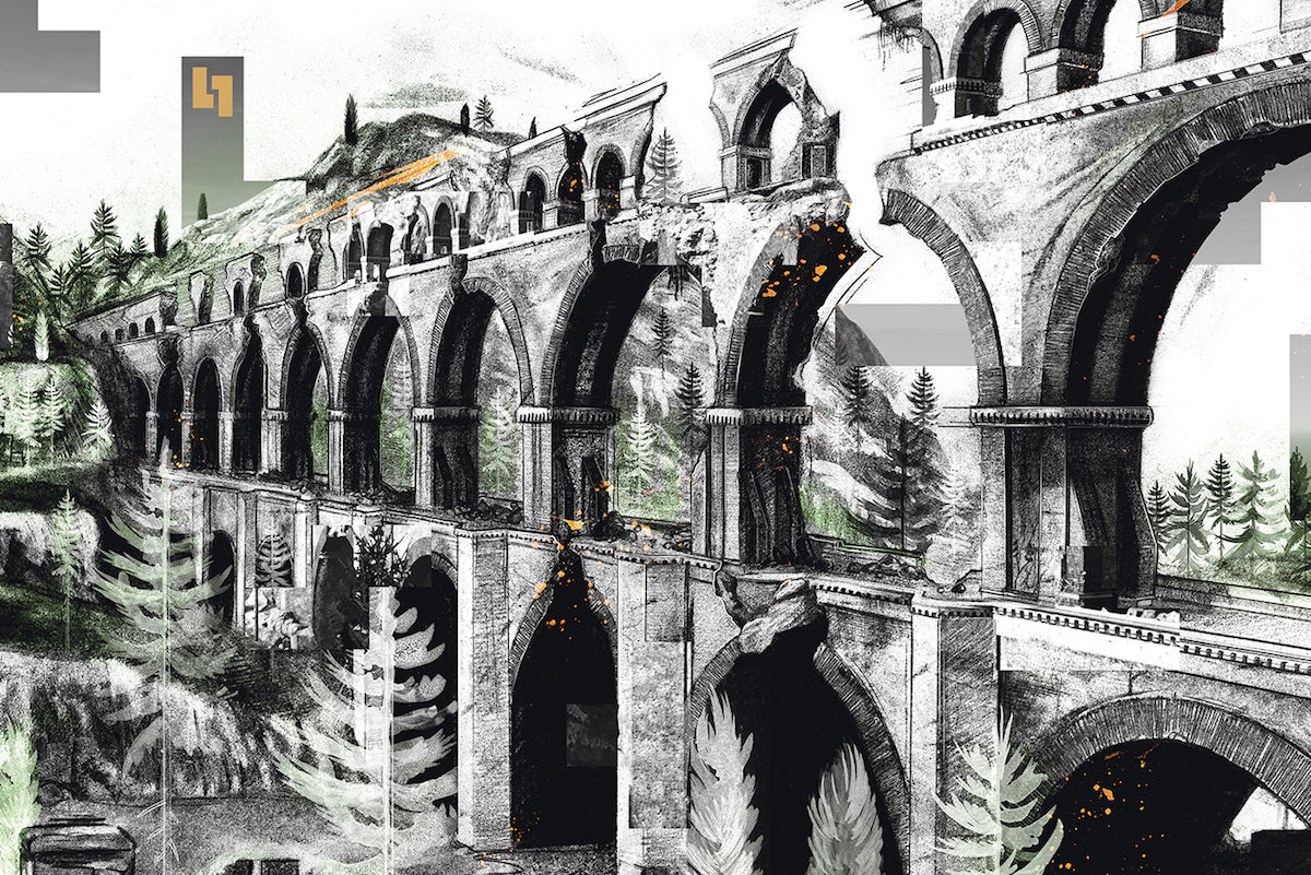Detail from the gatefold of The Talos Principle vinyl
