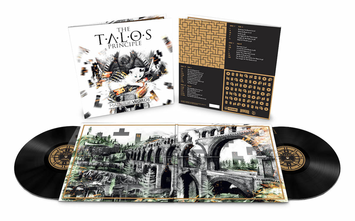 The Talos Principle ~Made of Words~, featuring music by Damjan Mravunac, 2xLP soundtrack vinyl is available from LacedRecords.com