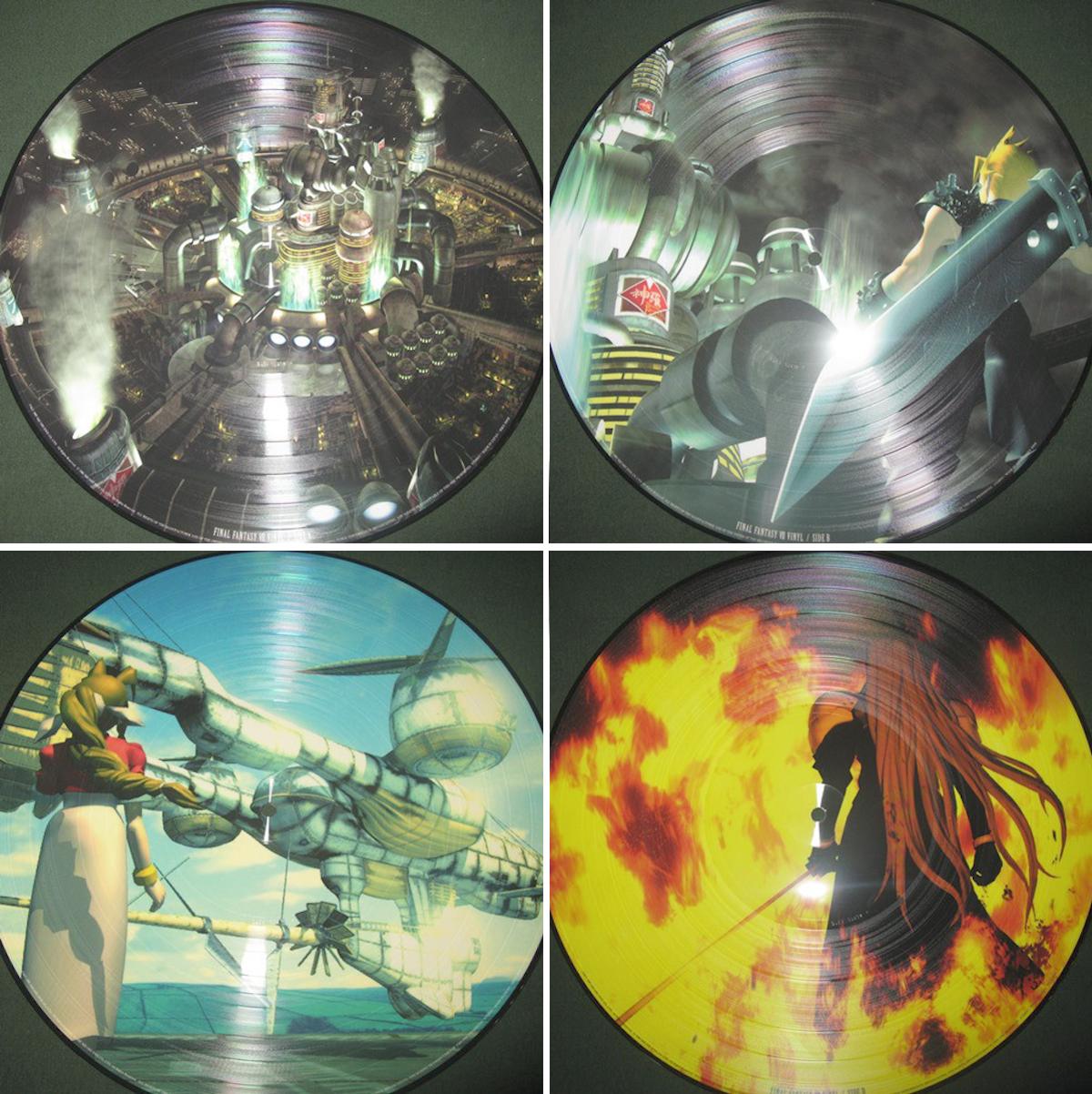 Final Fantasy 7 vinyl picture discs