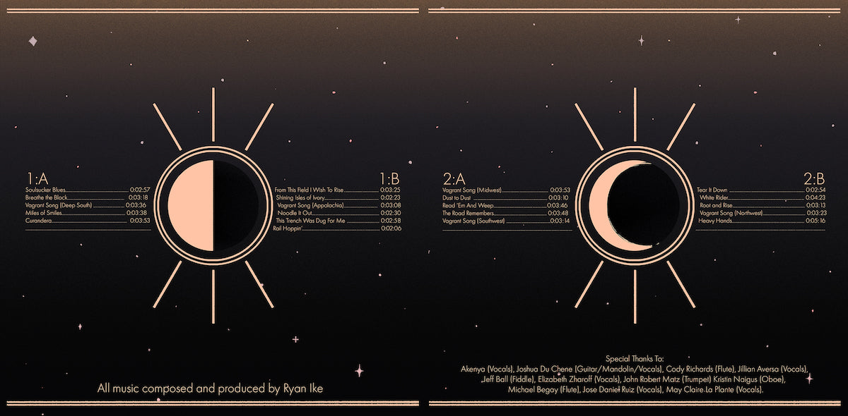 The inside gatefold of the vinyl