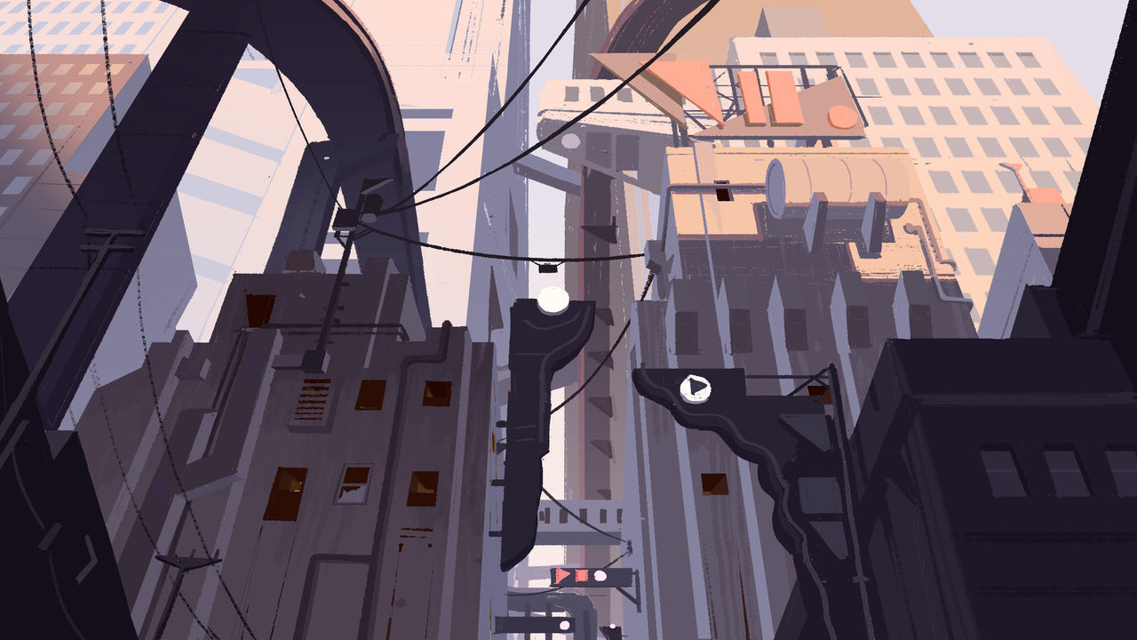 A piece of Kellan Jett's concept art for in-development title Overpass