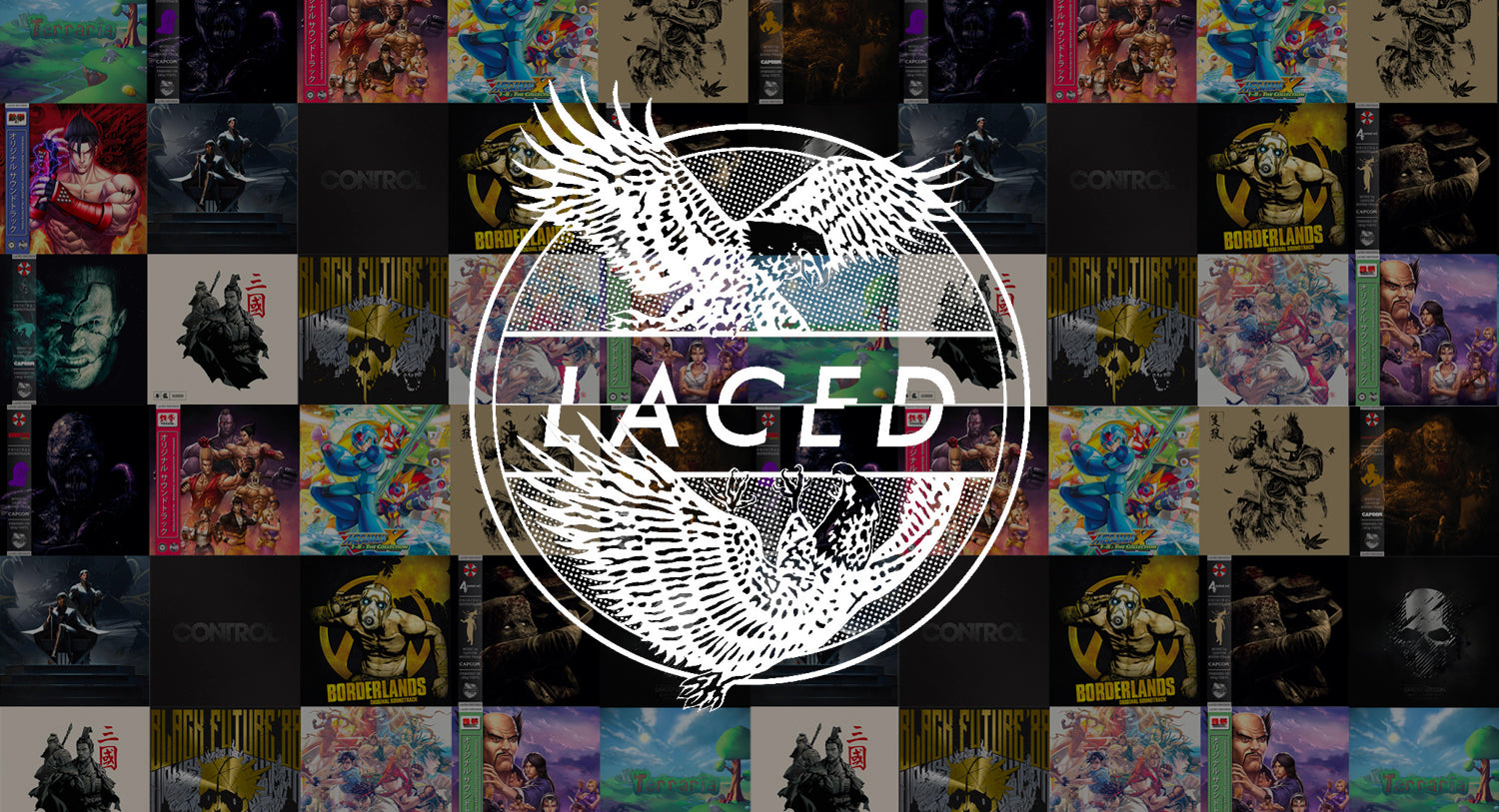 The old Laced Records logo, showing some eagles
