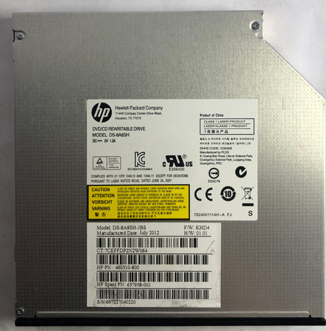 HP Pro 3420 All-In-One DS-8A8SH DVD/CD Rewritable Drive- 657958-001
