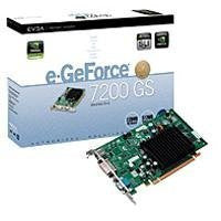 EVGA nVidia GeForce 7200GS 256 MB Support Upto 512 MB DVI/TV-out PCI-Express Video Card 256-P2-N429-LR