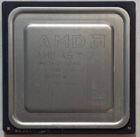 AMD K6-2 450 MHz Desktop CPU Processor- AMD-K6-2/450AHX