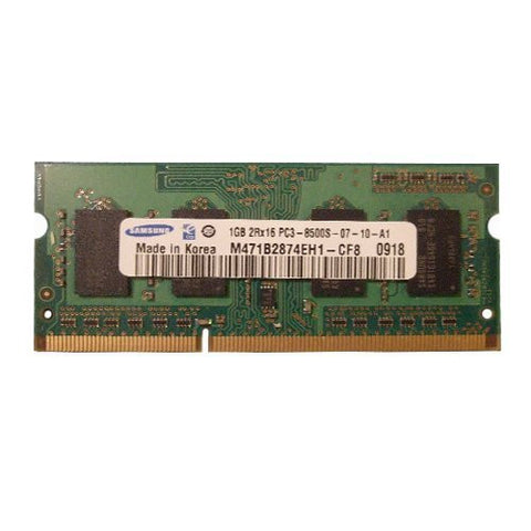 Samsung 1GB DDR3 Memory SO-DIMM 204pin PC3-8500S 1066MHz M471B2874EH1-CF8