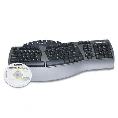 FEL59501 - Fellowes Split-Design Everyday Keyboard with Wrist Rest