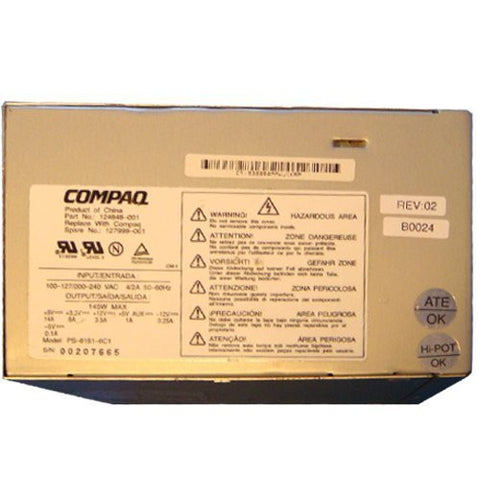 Compaq Presario 5300 145 Watt Power Supply 124848-001
