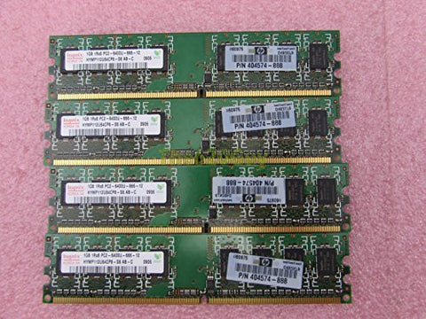 HP 404574-888 4GB 4 x 1GB PC2-6400U DDR2 800 Non-ECC Unbuffered Memory Kit Hynix
