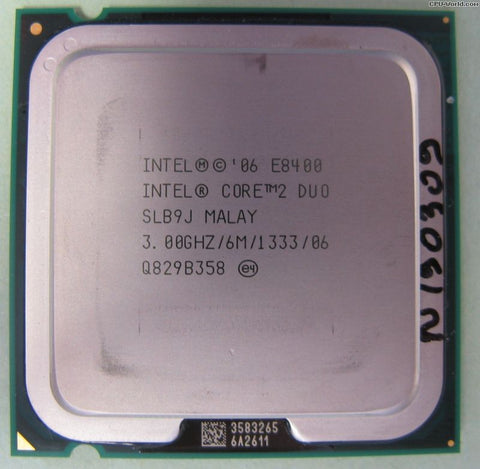 Intel Core 2 Duo E8400 CPU Processor- SLB9J