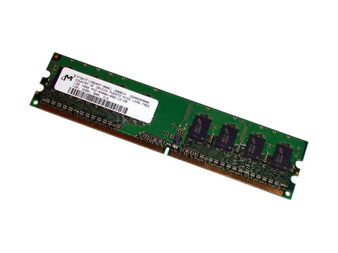 MICRON MT8HTF12864AZ-800H1 1GB DESKTOP DIMM DDR2 PC6400(800) UNBUF 1.8v 1RX8 240P 128MX64 128mX8 CL6