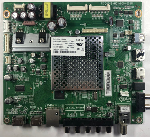 Vizion E500i-B1 LED TV 715G6648-M01-000-004N Main Board- XECB02K025060X