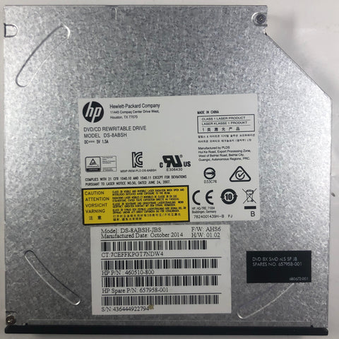 HP 19 AIO Desktop DS-8ABSH DVD/CD Rewriter Drive- 657958-001