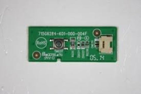 Vizio E-Series E32H-C1 LED TV Power Button Board- 715G6284-K01-000-004F