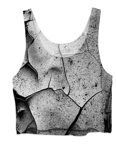 Abstract Cracks Crop Top