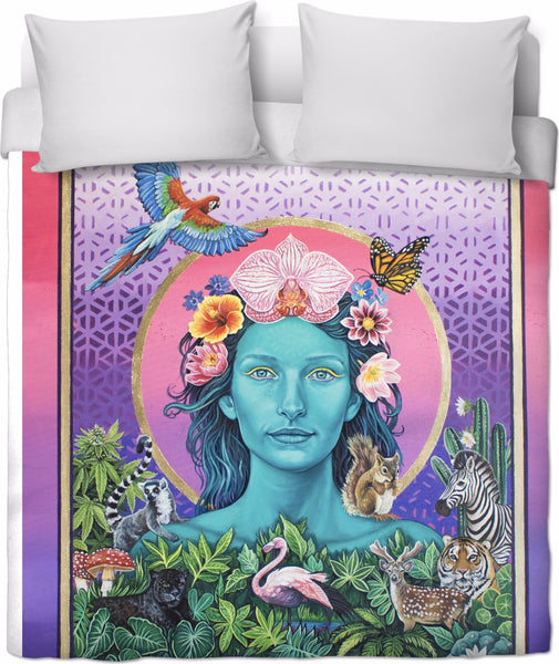 Mother Earth  Vibration - Duvet Cover