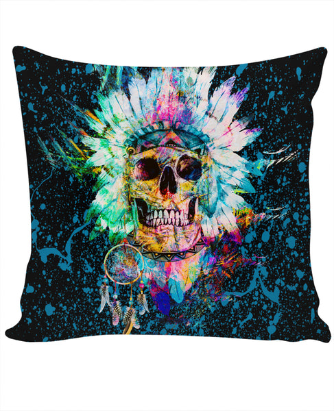 Skull Wild Spirit Couch Pillow