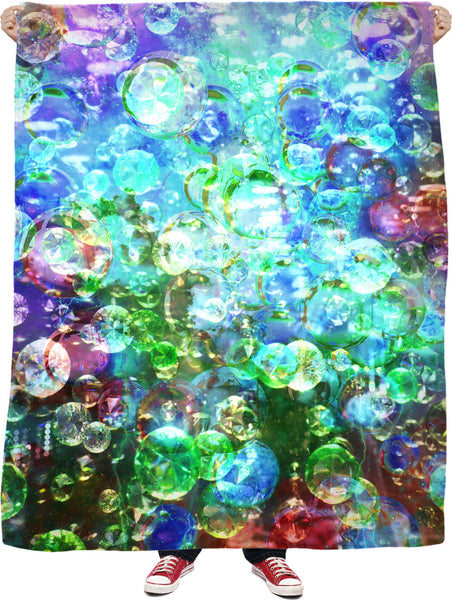 Bubbles Galore 7 Fleece Blanket