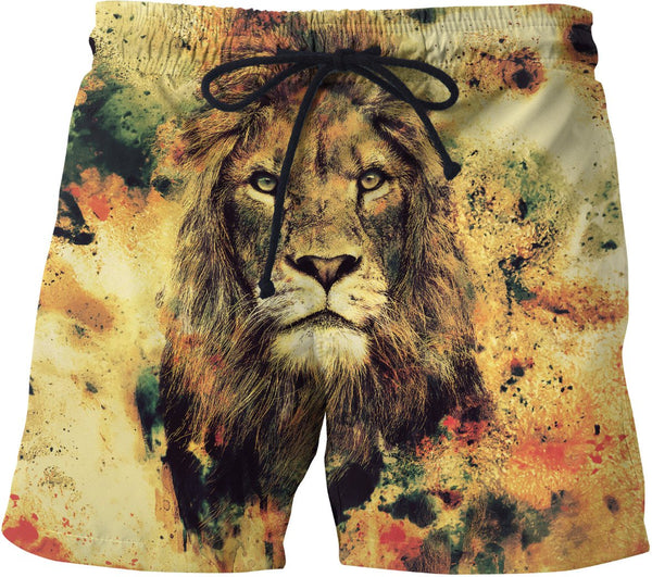 Lion -The King II Swim Trunks