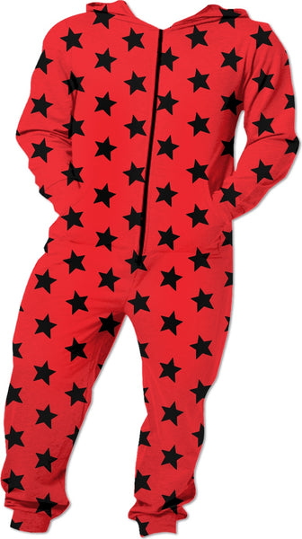 Black Stars Red Onesie