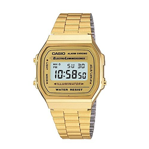 Casio Vintage Gold Metal Band Illuminator Alarm Watch