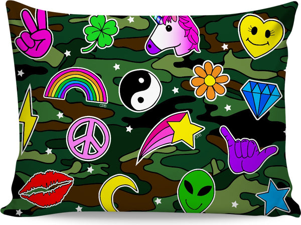 Camo Icons Pillowcase