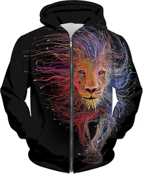 Lion Heart Tapestry Hoodie