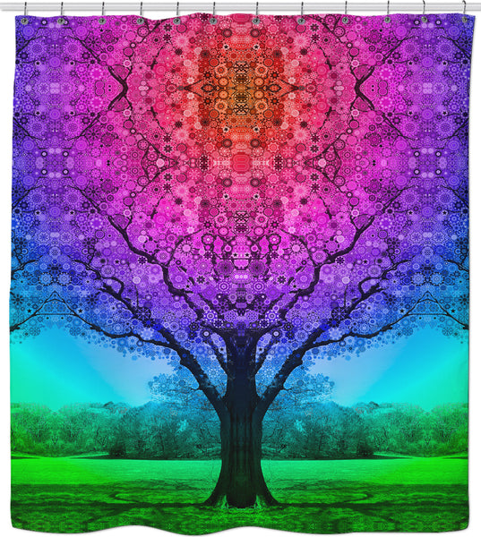 Star Tree - Shower Curtain