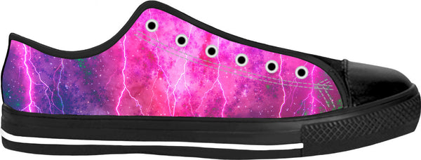 Blue And Pink Prophecy Black Low Top Shoes