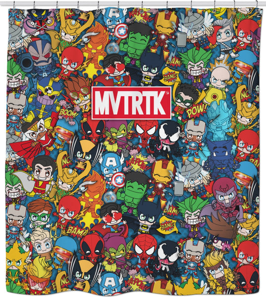 MVTRTK SUPER HEROES Shower Curtain